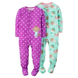 Just One You Carter's Monkey Footsie Pajamas 2pc